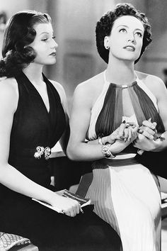 "vintagetwists: ""Rita Hayworth and Joan Crawford in Susan and God, 1940 """