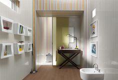 Csíkos mintákra építő fürdőszoba ötletek - Fap Ceramiche