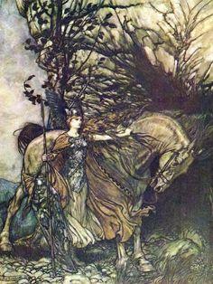 mirroir:    by Arthur Rackham
