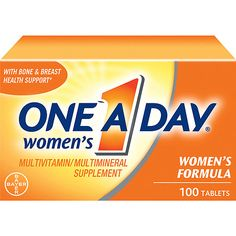 One A Day Womens Multivitamin/Multimineral Supplement - 100 Ct. I always take one every day along with fish oil, garlic, and ginkgo Biloba.
