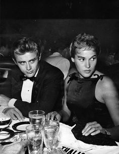 James Dean and Ursula Andress at the Thalian Ball, 1955.