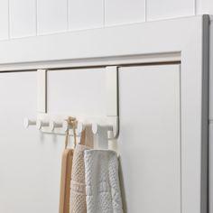 恩多登门吊架,白色-IKEA Hanging Storage, Small Storage, Ikea Hooks, Ikea Bathroom Accessories, Wash Basin Cabinet, Wall Mounted Hooks, Wall Hooks, Over The Door Hooks, Lineup