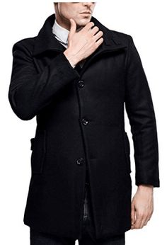 online shopping for SSLR Men's British Single Breasted Slim Wool Coat from top store. See new offer for SSLR Men's British Single Breasted Slim Wool Coat Stylish Jackets, Men's Coats And Jackets, Mens Wool Coats, Types Of Coats, Daily Fashion, Korea Fashion, Single Breasted, Slim, Clothes