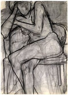 Art - Drawing - Seated Nude - Richard Diebenkorn, 1966