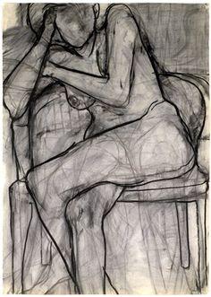Art - Drawing - Seated Nude - Richard Diebenkorn, 1966