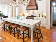 Ideas diy kitchen island with stove hoods for 2019 Long Narrow Kitchen, Narrow Kitchen Island, Modern Kitchen Island, Modern Kitchen Design, New Kitchen, Kitchen Decor, Kitchen Islands, Skinny Kitchen, Long Kitchen
