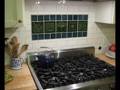 Kitchen Backsplash Centerpiece handmade, ceramic kitchen backsplash tilenatalie blake | best