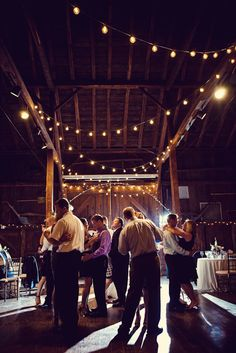 these kind of lights add to the rustic feel
