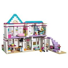 LEGO Friends Stephanie's House 41314 Build and Play Toy House with Mini Dolls, Dollhouse Kit - coffeetable Shop Lego, Buy Lego, Lego Design, Lego Girls, Toys For Girls, Lego Friends Sets, Toy House, Lego Room, Cool Lego Creations