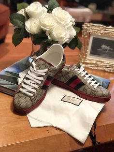dff568fd682 Gucci Ace GG Supreme Sneaker Black Men s Size Condition is Pre-owned. Shoes  are size 11 and run big.