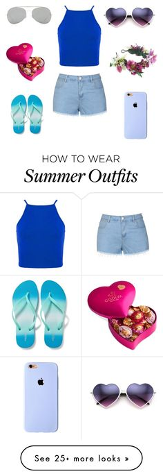 """Cute summer outfit"" by ashling22 on Polyvore featuring Ally Fashion, Old Navy, Acne Studios, Godiva and Rock 'N Rose"