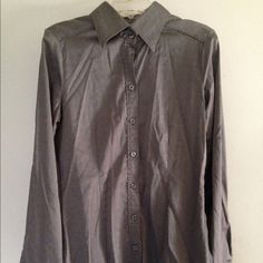 New York & Company Diamond Pattern Blouse Black/grey diamond geometric front button blouse. Color is closest in last two pics. New York & Company Tops Blouses