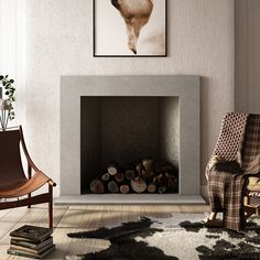 Plane Concrete Fireplace Surround - Trueform Concrete Concrete Fireplace, Fireplace Hearth, Fireplace Surrounds, Fireplace Design, Gas Fireplaces, Modern Victorian Homes, Fireplace Fronts, Fire Surround, Bedroom Decor