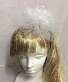 ヘッドドレス チュールとオーガンジーのウェディングヘアアクセサリー by brooch-bouquet アクセサリー ヘアアクセサリー