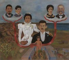 """""""Meine Großeltern, meine Eltern, und I (Stammbaum)"""", öl von Frida Kahlo (1907-1954, Mexico)"""
