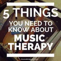 "One of the questions I constantly hear in my day to day practice is ""what is music therapy?"" which is usually followed by ""I've never heard of it before."" If you are one of the people who are unawa..."