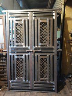 Window Grill Design Modern, Grill Gate Design, House Main Gates Design, Balcony Grill Design, Steel Gate Design, Front Gate Design, Door Gate Design, Railing Design, Exterior Barn Door Hardware