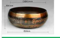 14cm MEDITATION HEALING GENUINE GLORIOUS OLD YOGA RARE TIBETAN SINGING BOWL copper Wholesale brass Bowls Striker price Factory
