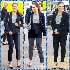 👑👑 Crown Princess Victoria in Gothenburg today 👑👑 Swedish Royals, Crown Princess Victoria, Gothenburg, Royalty, Capri Pants, Suits, News, Instagram, Fashion