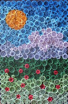 rolled up paper art..   Flickr - Photo Sharing!