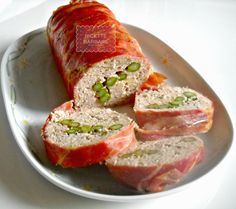 Ricette Barbare: Polpettone di pollo ed asparagi or Chicken meatloaf with asparagus