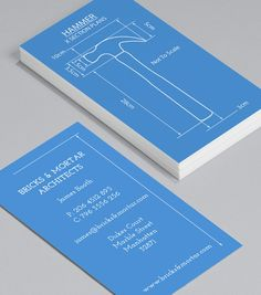 Tool Blueprints: handy with a hammer and a nail? These tools-of-the-trade Business Cards were designed with builders, handymen, architects and carpenters in mind. #moocards #businesscard