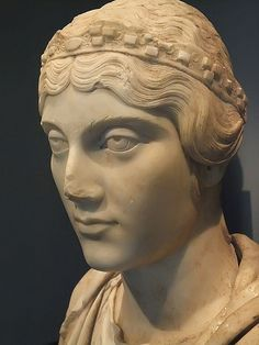 Portrait Bust of a Roman woman with hair styled after the Empress Faustina 140-150 CE Marble (1)