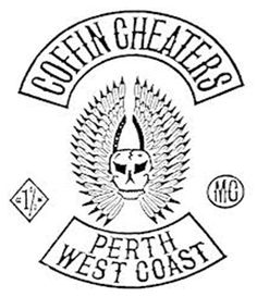 Coffin Cheaters MC - Respect Biker Clubs, Motorcycle Clubs, Bike Gang, Biker Patches, Cheaters, Cut And Color, Coffin, Colours, Western Australia
