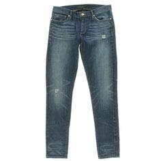 JUICY-COUTURE-NEW-Denim-Embellished-Joplin-Wash-Low-Rise-Skinny-Jeans-25-BHFO
