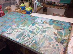 Painting in progress..by Sue Davis