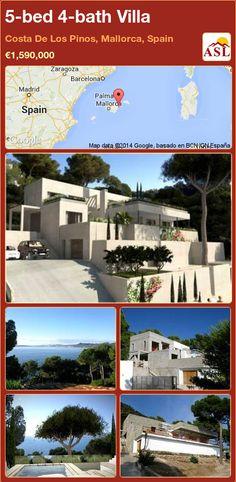 5-bed 4-bath Villa in Costa De Los Pinos, Mallorca, Spain ►€1,590,000 #PropertyForSaleInSpain
