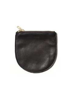 Baggu's Small Leather Pouch in Black now at Revival.  $20.