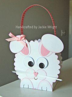 Easter Bunny Box - punch art - bjl
