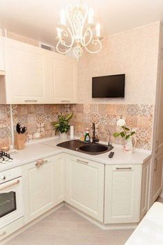 Kitchen Cabinet Design, Kitchen Decor, Kitchen Cabinets, Beds For Small Rooms, Small Apartment Kitchen, Little Kitchen, Home Renovation, Kitchen Remodel, Sweet Home