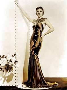 Claudette Colbert, Stunning gown, perhaps Travis Banton