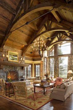 Mountain Home Interiors   Home Decor U0026 Style   Interiors / Beautiful Mountain  Home Living Room