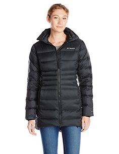 Columbia Womens Hellfire Mid Down Jacket Black Medium ** Details can be found by clicking on the image.