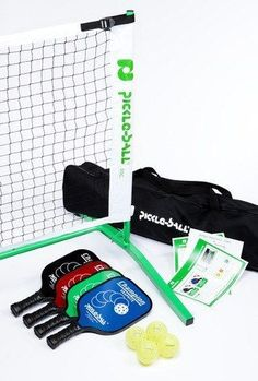 Tournament Champion Pickleball Set 3.0 w/ Paddles & Net