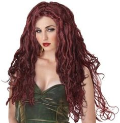 You can buy a medusa wig for to match various parties costumes from the Halloween Spot. This brown wig will make you look above the crowd in various parties. Costume Meduse, Medusa Wig, Medusa Snake, Medusa Halloween Costume, Dreadlock Wig, Dreadlocks, California Costumes, Red Wigs, Cheap Wigs