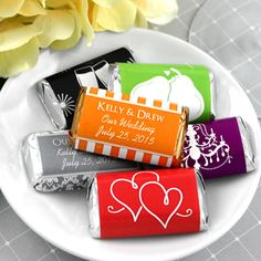 Chocolate, a great way to celebrate and share your personal message with guests!  Give these Personalized Hershey's Assorted Miniatures a try! Design and order online today! http://www.favorfavor.com/page/FF/PROD/4184000DD