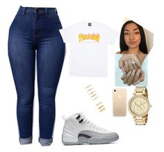 """""""Untitled #73"""" by miyahthehunter ❤ liked on Polyvore featuring L.E.N.Y. and Michael Kors"""
