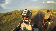 A dry ride for Martin Leonhardt in his REV'IT! Defender GTX outfit aboard his KTM 1190 Adventure