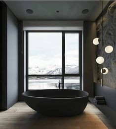 Home Design And Decor Shopping App Promo Code Interior Design Blogs, Interior Design Companies, Interior Design Inspiration, Interior Decorating, Decorating Games, Design Ideas, Stone Feature Wall, Black Bathtub, Dark Interiors