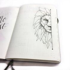 Inga (@ingasbujo) • Instagram photos and videos - lion geometriclion geometric doodle bulletjournal bujo bullet journal