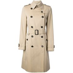 burberry trench coat outlet 8jmq  Burberry London Double-Breasted Trench Coat $1,636  liked on Polyvore  featuring outerwear
