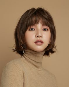 Pin by skysky on 윗옷은ㅅ in 2020 Shot Hair Styles, Face Pictures, Short Bob Hairstyles, Stylish Hair, Cut And Color, Woman Face, Bob Styles, Short Hair Cuts, Medium Hair Styles