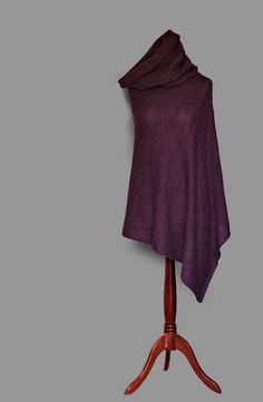 Hey, I found this really awesome Etsy listing at https://www.etsy.com/listing/209879151/alpaca-poncho-knit-poncho-purple-poncho