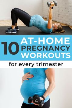 Achieve your fit pregnancy goals with these prenatal   pregnancy workouts! You can do each of these pregnancy workouts at home with minimal equipment, and they're great for the 1st, 2nd, or 3rd trimester workouts! #fitmom #fitpregnancy #prenatal #pregnancy #pregnant #pregnancyworkouts Prenatal Workout, Prenatal Yoga, Pregnancy Goals, Pregnancy Workout, Barre Workouts, At Home Workouts, Exercise For Pregnant Women, Ballet Body, Keep Fit