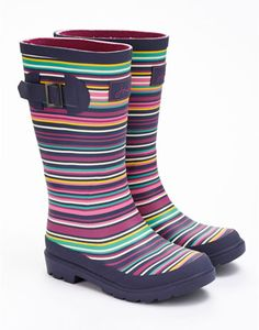 Joules JNR GIRLS WELLY Girls Printed Welly, Multi Mix. Wellies that make wet weather amazing! Kit out your little ones and get them outside at the first sound of �pitter patter�. Paired with our Welly Socks there�s no better way to make a splash.