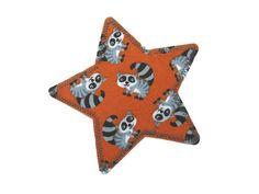 Applikation Stern Waschbären Knieflicken Patch von Silwarin auf DaWanda.com
